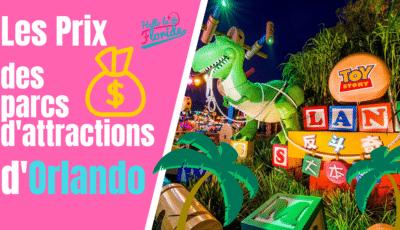 Découvrez les prix des grands parcs d'attractions de Floride et d'Orlando