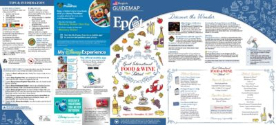 Plan et menu de la food and wine 2017 à Epcot