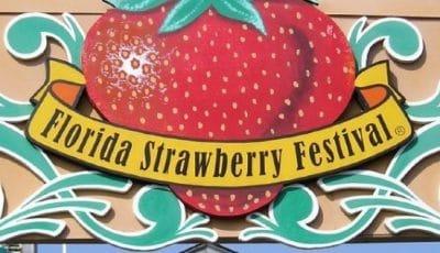 Logo de la fête de la fraise en Floride