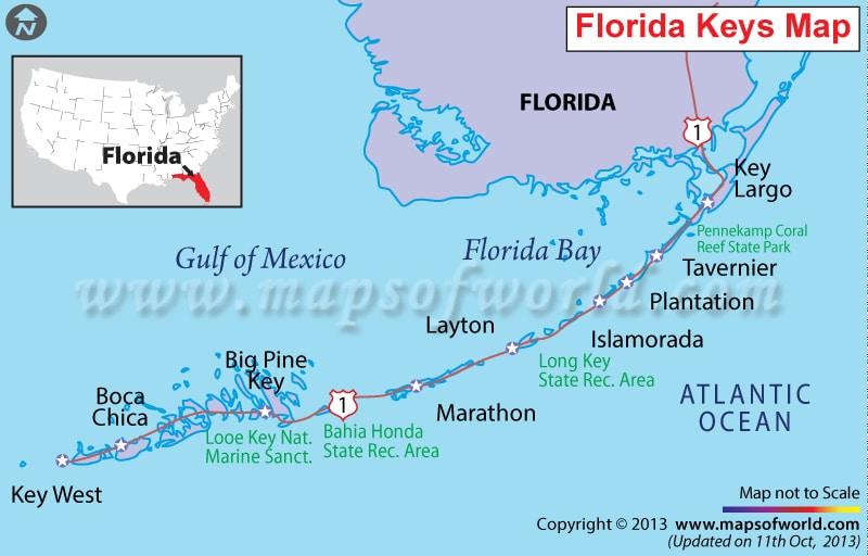 florida-keys-carte - hello la floride : le blog sur la floride