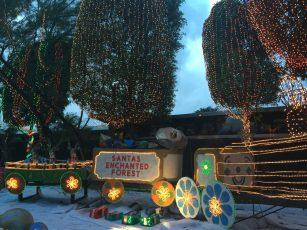 Décoration de noel pour la foret enchantée de santa à Miami