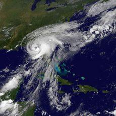 carte meteo lors du passage d'un ouragan sur la Floride