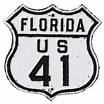 panneau us 41 en floride, route nationale