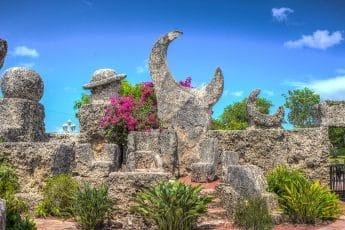 Le chateau de coral à visiter à Miami en Floride