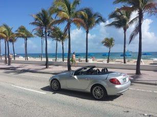 La célèbre plage de Miami Beach en Floride