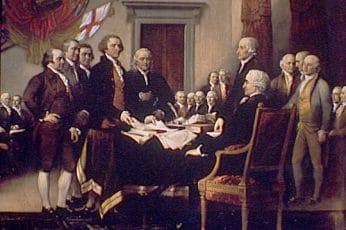 photo de la signature de l'indépendance des usa